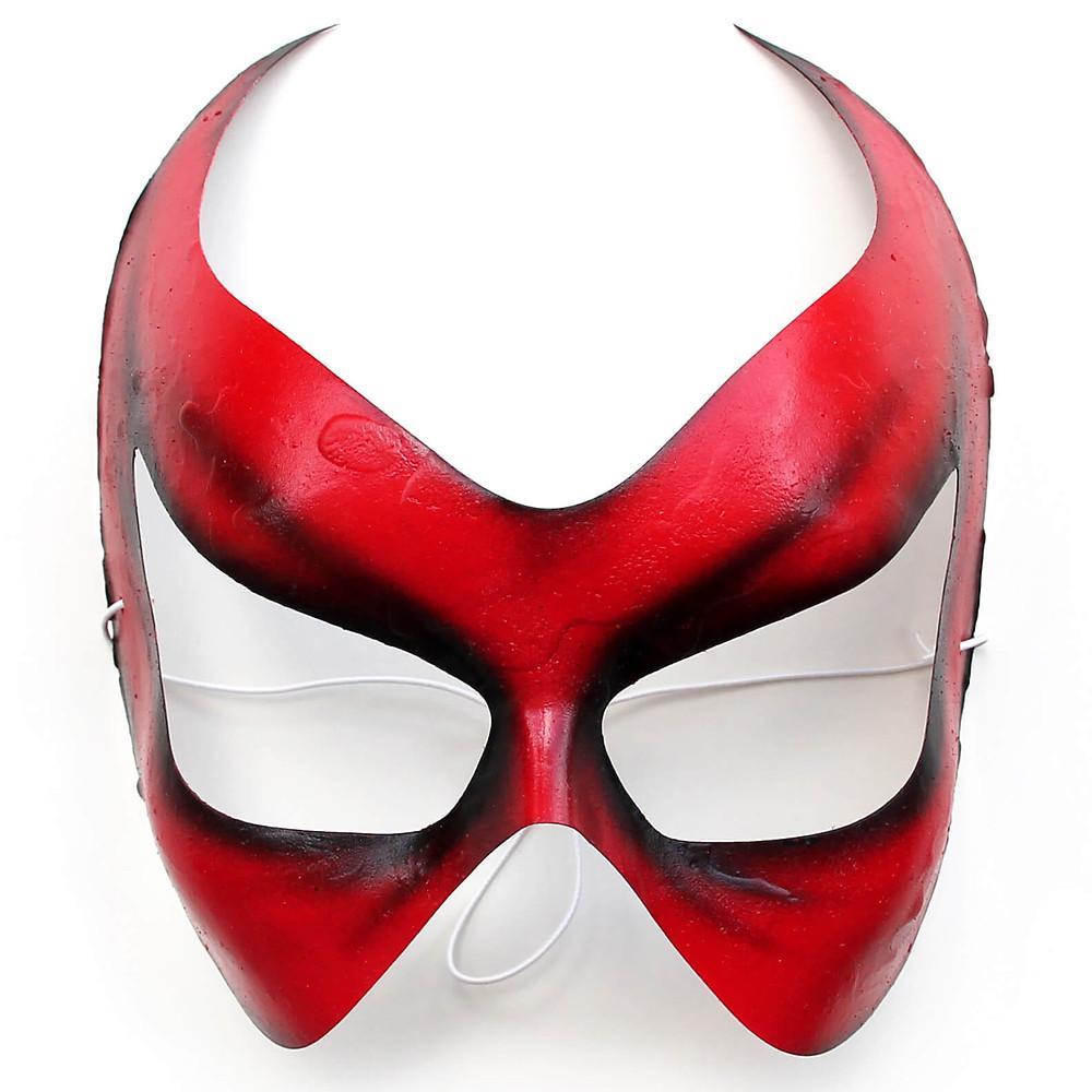 maschera horror Halloween rossa da donna