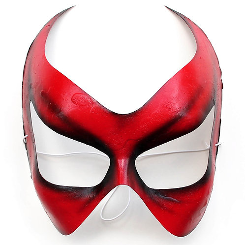 Maschera horror Halloween rossa a mezzo volto