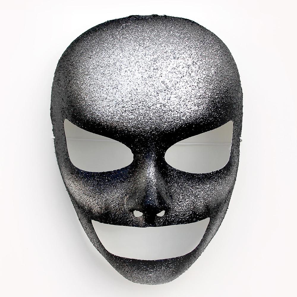 maschera teschio glitter Halloween