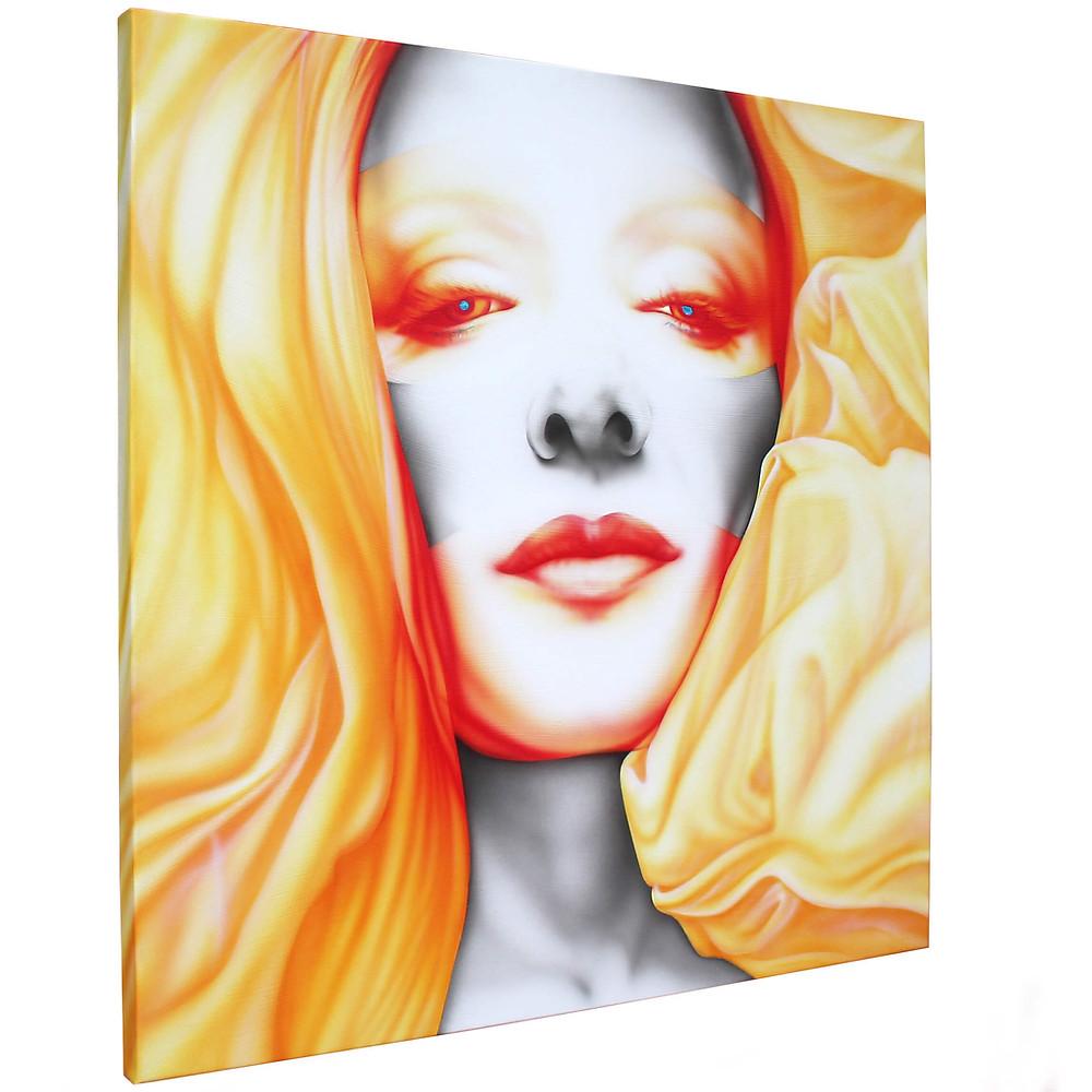 quadro moderno, quadro volto di donna, ritratto artandfashion by sportelli