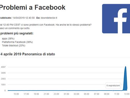 Facebook Instagram e WhatsApp Down