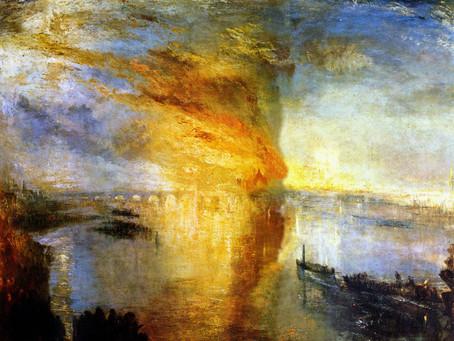 Turner - L'incendio della Camera dei Lord e dei Comuni