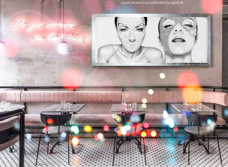 Quadri moderni, surreali e dark per arredare locali notturni e bar.