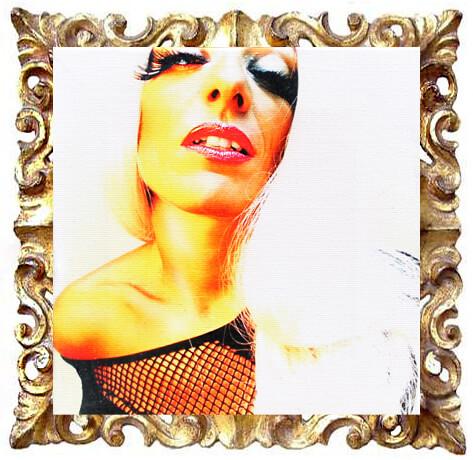 mini quadro moderno con donna sexy