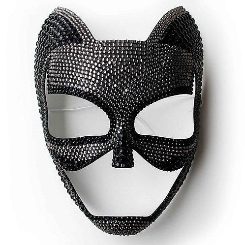 Maschera sexy regina nera bicolore