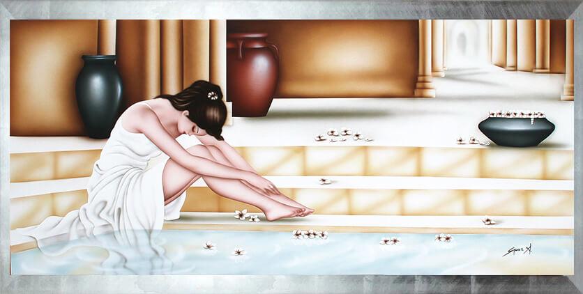 quadro moderno donna, quadro moderno colorato, quadro moderno rilassante