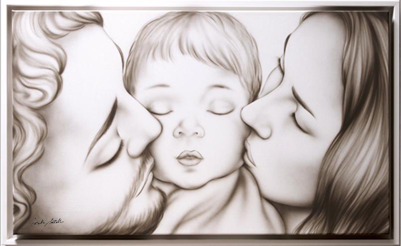 Quadro moderno Sacra Famiglia Artandfashion by Sportelli