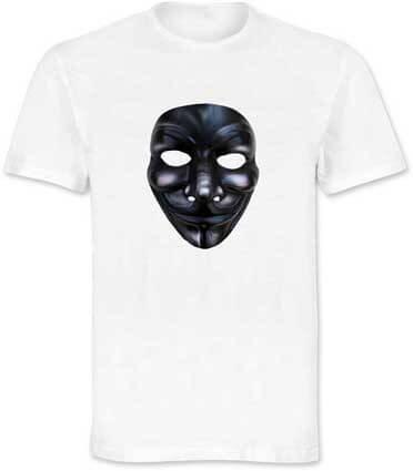 Maglietta con stampa maschera V per Vendetta ArtAndFashion by Sportelli