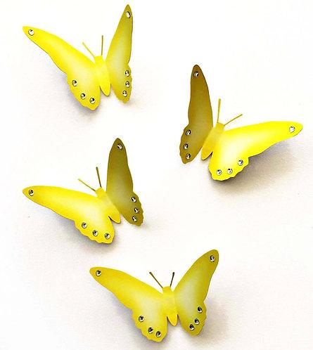 Farfalle 3D gialle