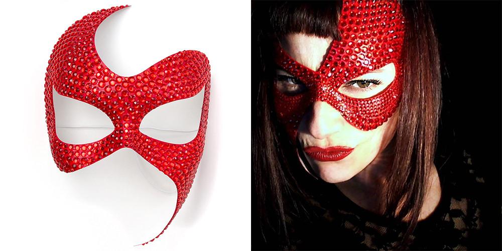 maschera rossa san valentino, san valentino, amore, fetish