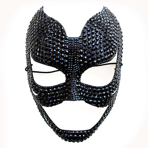 Maschera fetish cat nera
