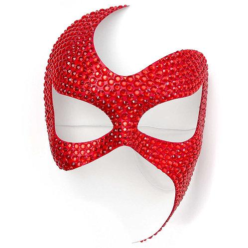 Maschera elegante fetish rossa