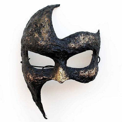 Maschera Fantasma Gotico nera e oro