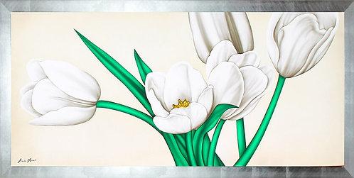 Quadro moderno floreale dipinto a mano