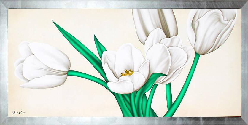 quadro fiori bianchi, idea regalo matrimonio