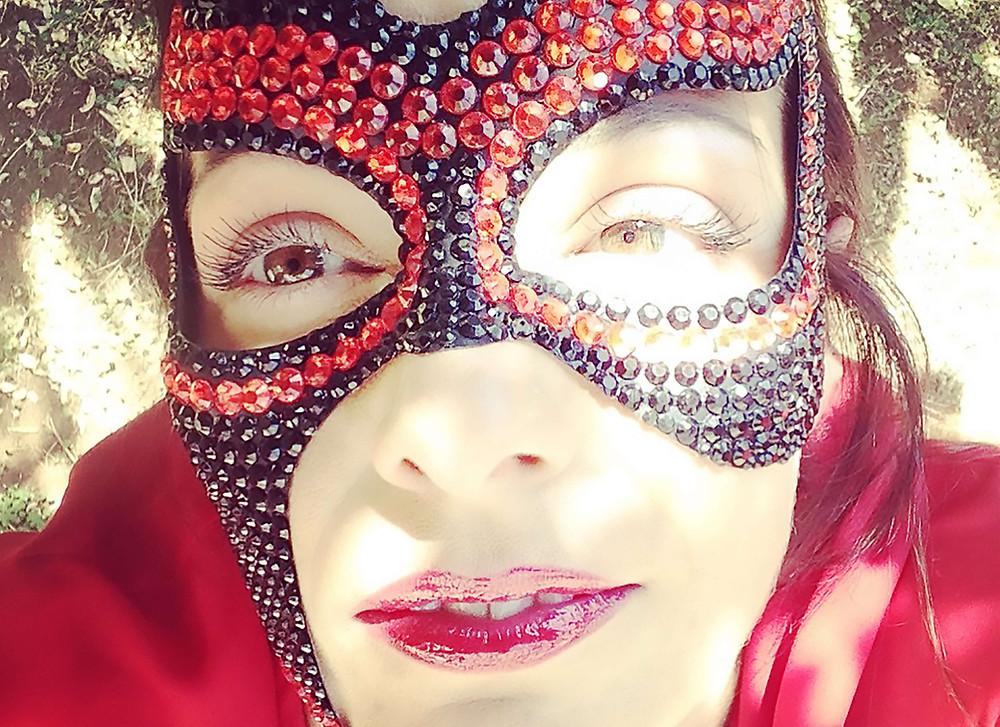 maschera gioiello, maschera fetish