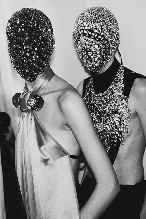 fashion mask, Maison Margiela, maison Margiela, maschere gioiello