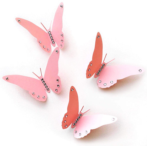 farfalle 3D rosa