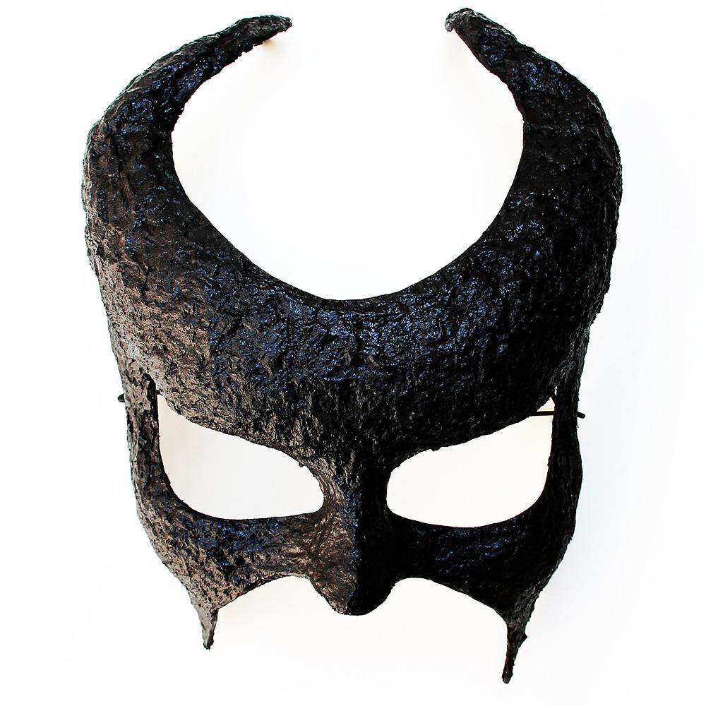 maschera Halloween demonio nero