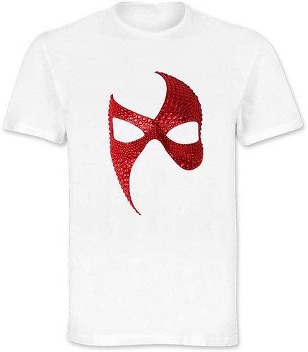 Maglietta con stampa maschera rossa originale ArtAndFashion by Sportelli