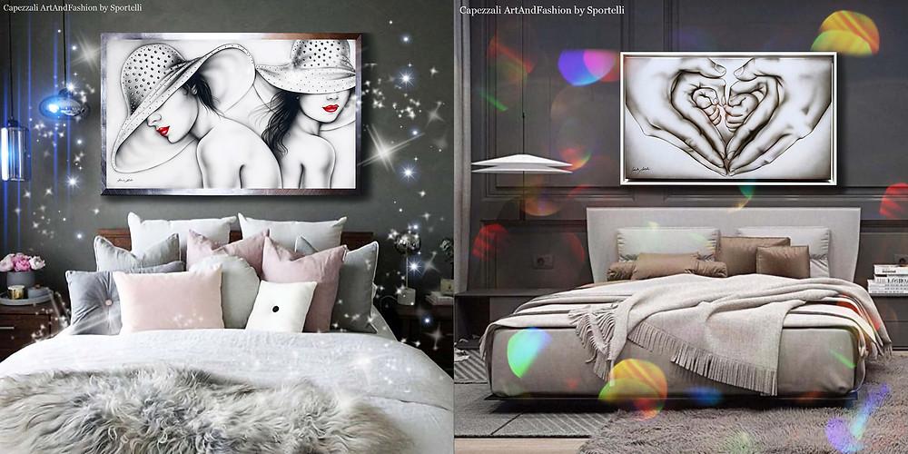 capezzali ArtAndFashion by Sportelli colori neutri da abbinare a camere da letto moderne