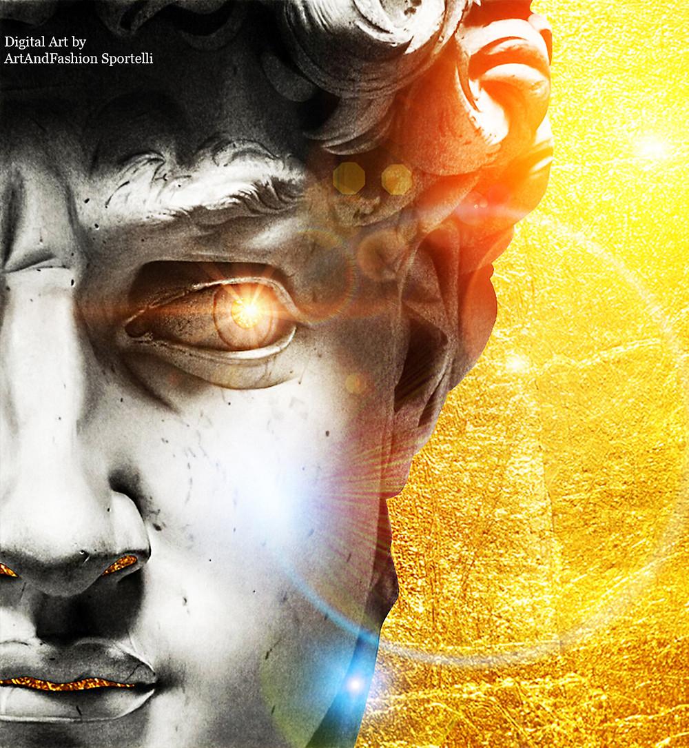 digital art David di Michelangelo by ArtAndFashion Sportelli