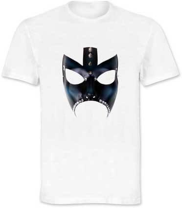 T-shirt con stampa maschera