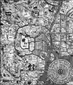 antica planimetria Tokyo