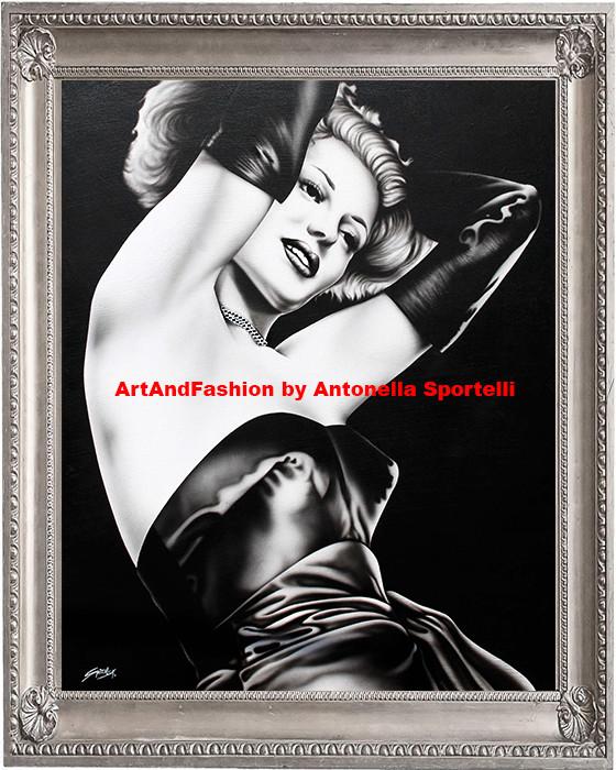 quadro moderno in bianco e nero Gilda