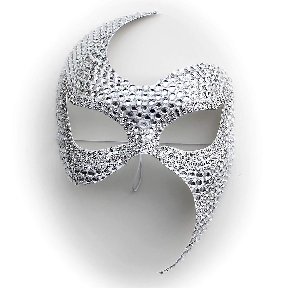 maschera gioiello, maschera sexy, maschera fetish, maschera diamante