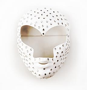 maschera teatro carnevale bianca