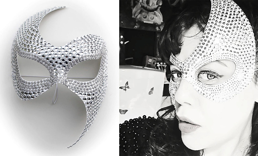 Maschera sexy diamonds e ragazza mascherata