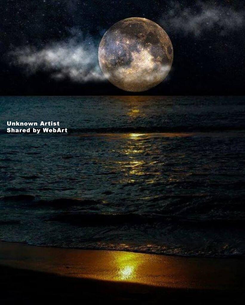 spectacular moon, digital art