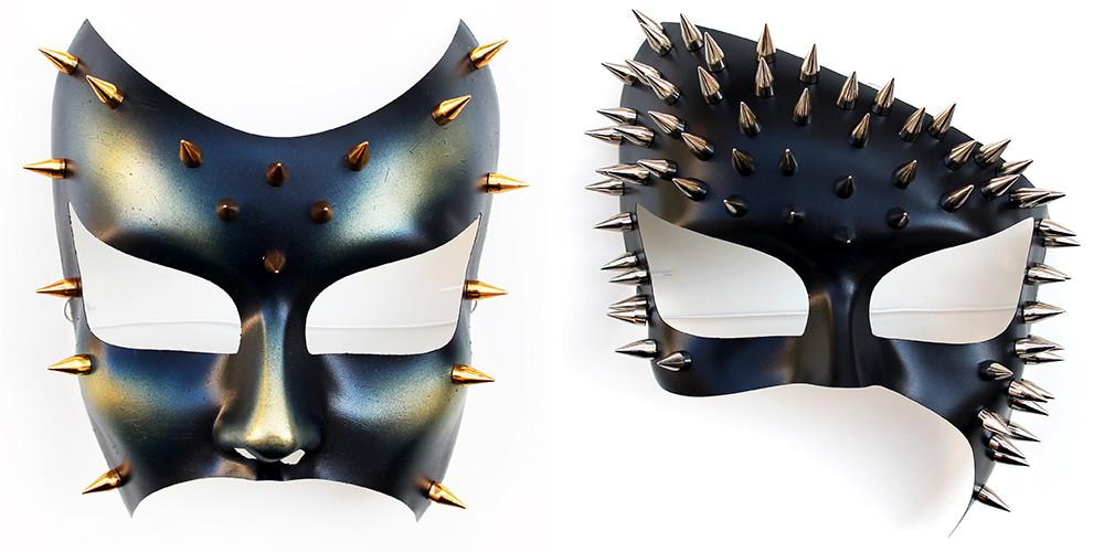 maschere trasgressive chiodate da disco