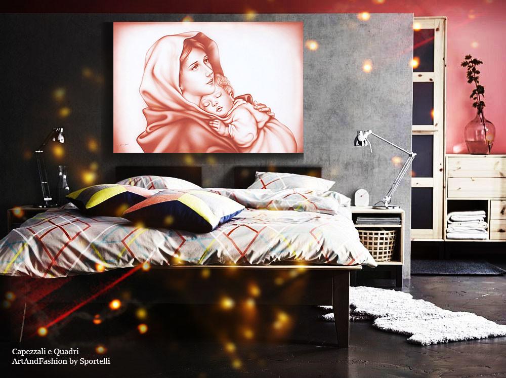capezzale Madonna del Ferruzzi in camera da letto moderna