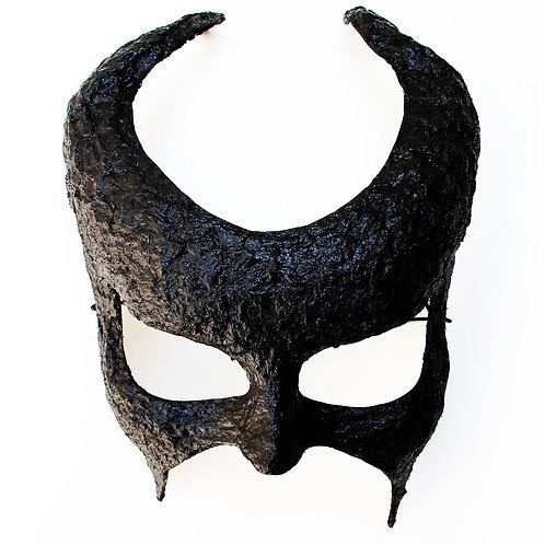 Maschera elegante Demonio Nero a mezzo viso con corna
