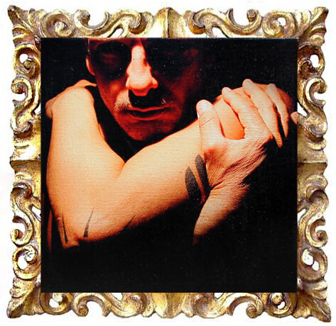 quadro moderno mini con ritratto di uomo mascherato