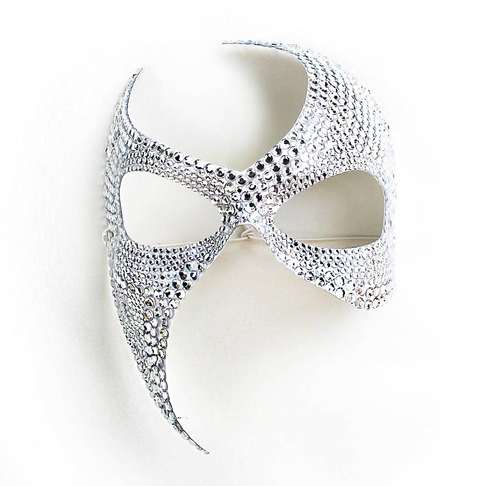 maschera gioiello diamond bianca