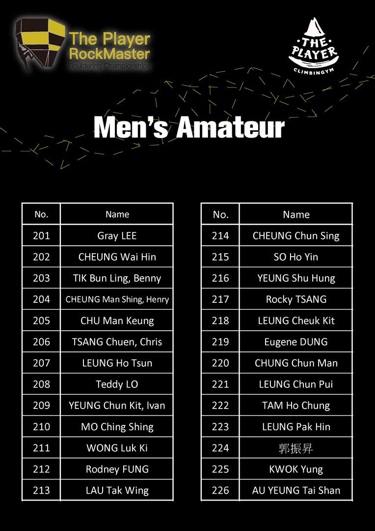 Men's Amateur
