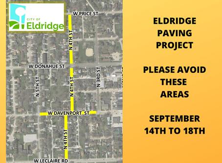 Road Closures 9/14 - 9/18