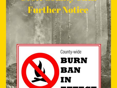Burn Ban in Effect 3/29/21