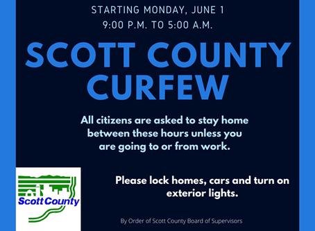 Scott County Curfew June 1, 2020