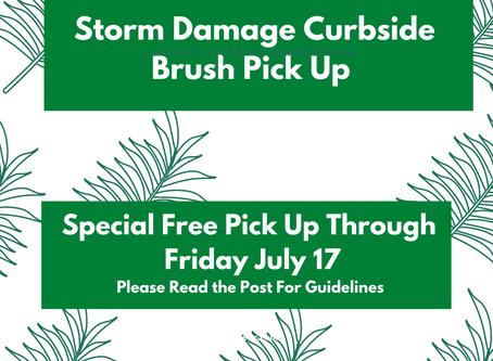Storm Damage Brush Pickup