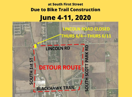 East Lincoln Road Closure and Detour for Bike Trail Construction