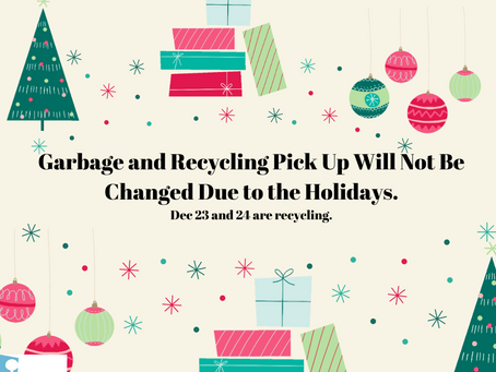No Change to Holiday Trash Schedule