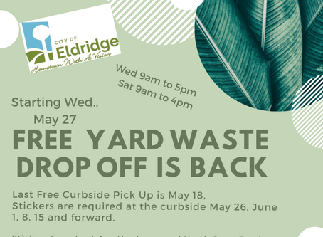 Yard Waste Drop-off Reopens!