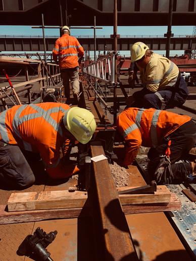 Crane Rail Replacement