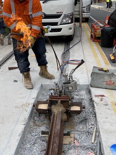 Block Out Welding - Light Rail