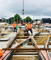Light Rail Turnout Construction