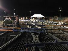 Double Scissor Cross-Over Light Rail Construction